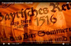 Weissbier-Werbung