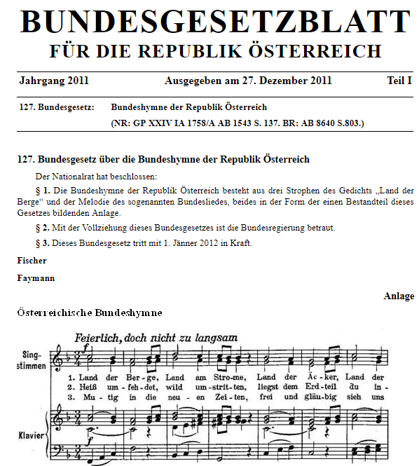 österreich hymne